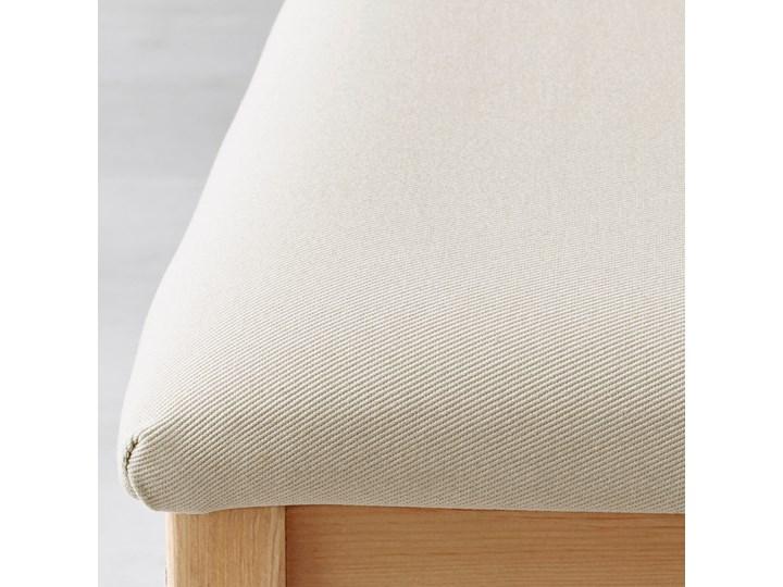 IKEA LERHAMN Stół i 4 krzesła, bejca jasna patyna biała bejca/Vittaryd beżowy, 118x74 cm Kolor Biały