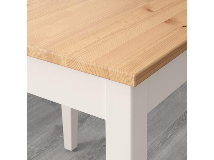 IKEA LERHAMN Stół i 4 krzesła, bejca jasna patyna biała bejca/Vittaryd beżowy, 118x74 cm Pomieszczenie Jadalnia