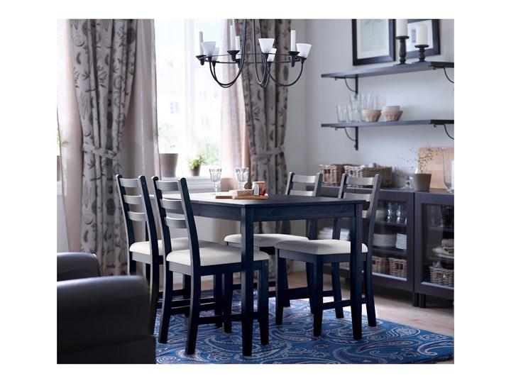 IKEA LERHAMN Stół i 4 krzesła, czarnybrąz/Vittaryd beżowy, 118x74 cm Pomieszczenie Jadalnia