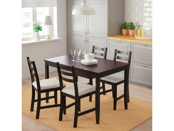 IKEA LERHAMN Stół i 4 krzesła, czarnybrąz/Vittaryd beżowy, 118x74 cm Pomieszczenie Jadalnia Kategoria Stoły z krzesłami