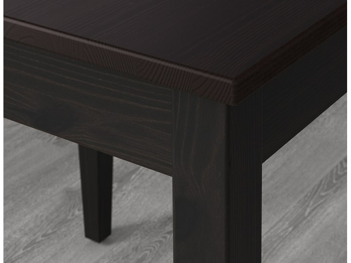 IKEA LERHAMN Stół i 4 krzesła, czarnybrąz/Vittaryd beżowy, 118x74 cm Kategoria Stoły z krzesłami Pomieszczenie Jadalnia