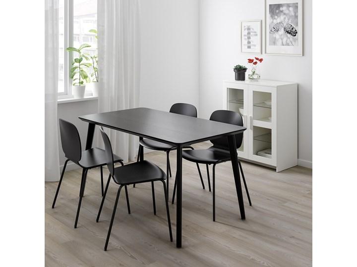 IKEA LISABO / IDOLF Stół i 4 krzesła, czarny/czarny, 140x78 cm Kategoria Stoły z krzesłami Pomieszczenie Salon