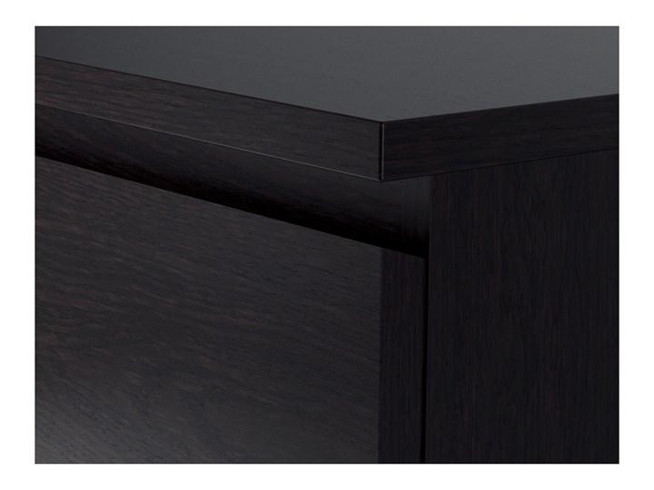 IKEA MALM Komoda, 6 szuflad, Czarnobrąz, 160x78 cm Z szufladami Płyta MDF Szerokość 160 cm Pomieszczenie Salon Pomieszczenie Sypialnia