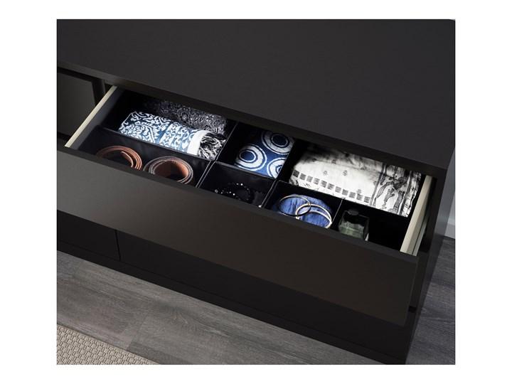 IKEA MALM Komoda, 6 szuflad, Czarnobrąz, 160x78 cm Szerokość 160 cm Płyta MDF Z szufladami Kolor Czarny