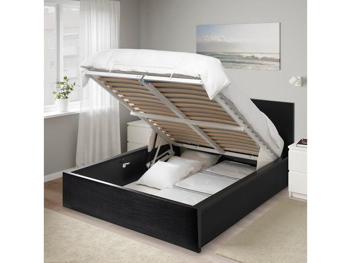 MALM Łóżko z pojemnikiem Kolor Czarny Łóżko drewniane Kategoria Łóżka do sypialni