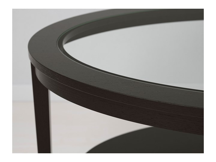 MALMSTA Stolik kawowy Kolor Czarny Wysokość 52 cm Rodzaj nóg Proste
