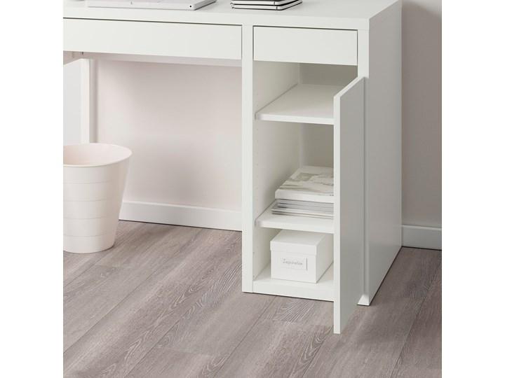 IKEA MICKE Biurko, Biały, 105x50 cm Płyta MDF Szerokość 105 cm Pomieszczenie Biuro Biurko regulowane Kategoria Biurka
