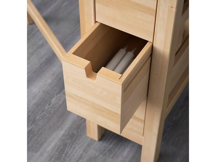 IKEA NORDEN Stół z opuszczanym blatem, Brzoza, 26/89/152x80 cm Drewno Długość 152 cm Rozkładanie