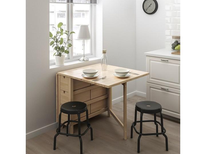 IKEA NORDEN Stół z opuszczanym blatem, Brzoza, 26/89/152x80 cm Drewno Długość 152 cm Rozkładanie Kolor Beżowy