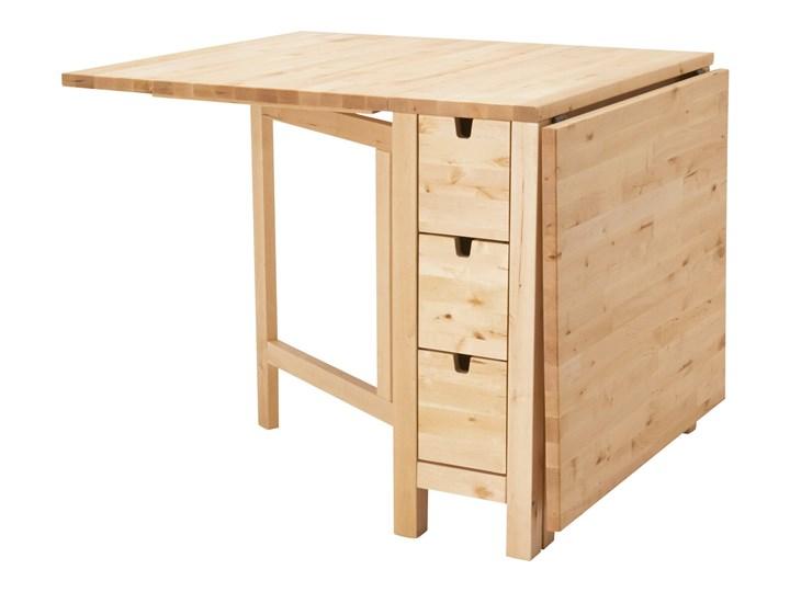 NORDEN Stół z opuszczanym blatem Szerokość 80 cm Długość 89 cm  Długość 152 cm Kolor Beżowy Drewno Wysokość 74 cm Rozkładanie