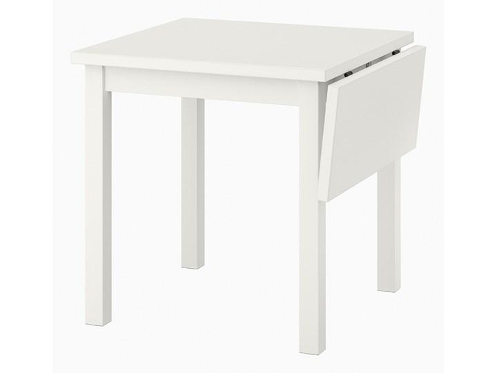 NORDVIKEN Stół z opuszcz blatem Długość 104 cm Drewno Szerokość 74 cm Długość 110 cm  Wysokość 75 cm Długość 74 cm Kolor Biały