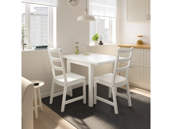 IKEA NORDVIKEN Stół z opuszcz blatem, Biały, 74/104x74 cm Wysokość 75 cm Sosna Drewno Długość 104 cm Rozkładanie Rozkładane