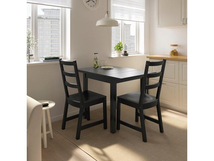 IKEA NORDVIKEN Stół z opuszcz blatem, Czarny, 74/104x74 cm Drewno Długość 104 cm Kształt blatu Kwadratowy Kategoria Stoły kuchenne