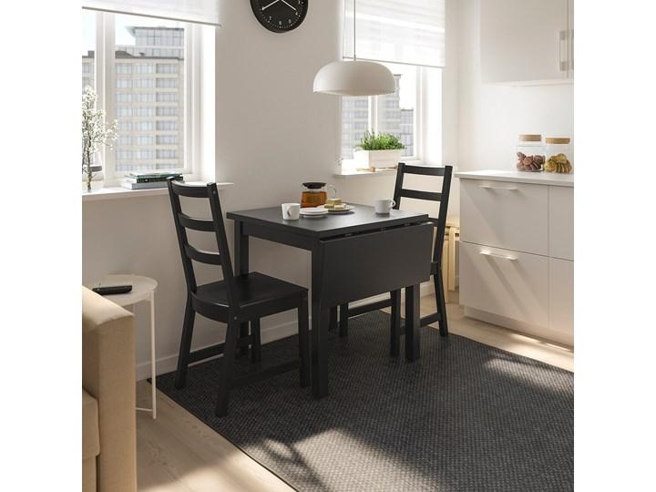IKEA NORDVIKEN Stół z opuszcz blatem, Czarny, 74/104x74 cm Długość 104 cm Drewno Kategoria Stoły kuchenne