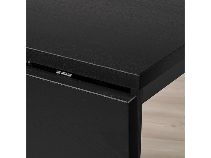 IKEA NORDVIKEN Stół z opuszcz blatem, Czarny, 74/104x74 cm Długość 104 cm Drewno Pomieszczenie Stoły do kuchni