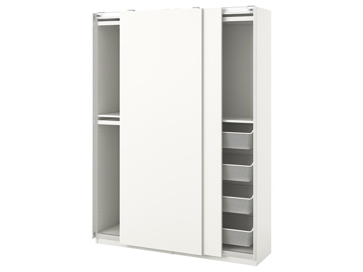 PAX / HASVIK Kombinacja szafy Rodzaj drzwi Przesuwne Głębokość 44 cm Szerokość 150 cm Wysokość 201,2 cm Typ Modułowa