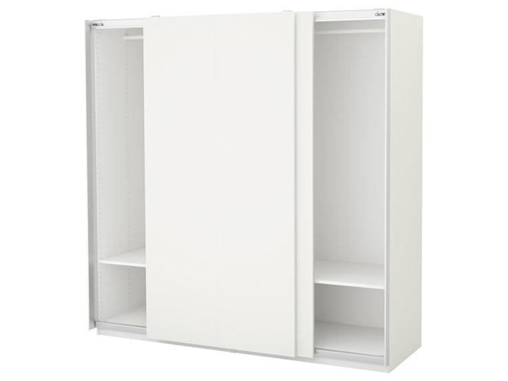 PAX Szafa Głębokość 66 cm Wysokość 201,2 cm Szerokość 200 cm Ilość drzwi Dwudrzwiowe Rodzaj drzwi Przesuwne