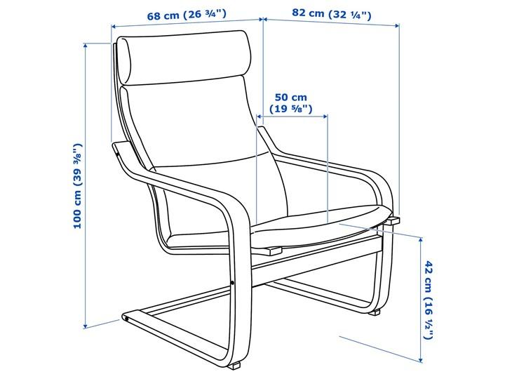 IKEA POÄNG Fotel, czarnybrąz/Hillared beżowy, Szerokość: 68 cm Tworzywo sztuczne Drewno Fotel z podnóżkiem Pomieszczenie Salon Kategoria Fotele do salonu