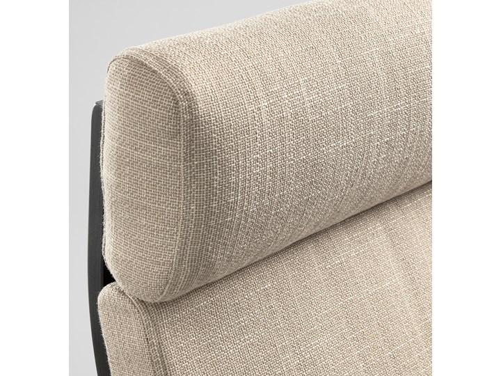 IKEA POÄNG Fotel, czarnybrąz/Hillared beżowy, Szerokość: 68 cm Tworzywo sztuczne Fotel z podnóżkiem Drewno Kategoria Fotele do salonu