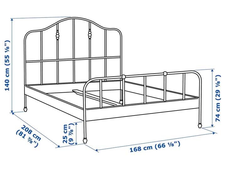 SAGSTUA Rama łóżka Łóżko metalowe Kolor Czarny Kategoria Łóżka do sypialni