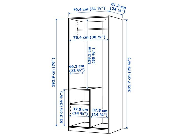 TRYSIL Szafa Wysokość 202 cm Szerokość 79 cm Głębokość 61 cm Kategoria Szafy do garderoby