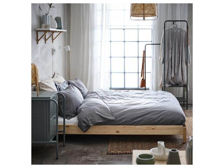 IKEA UTÅKER Łóżko sztaplowane, sosna, 80x200 cm Podwójne Drewno Kolor Beżowy