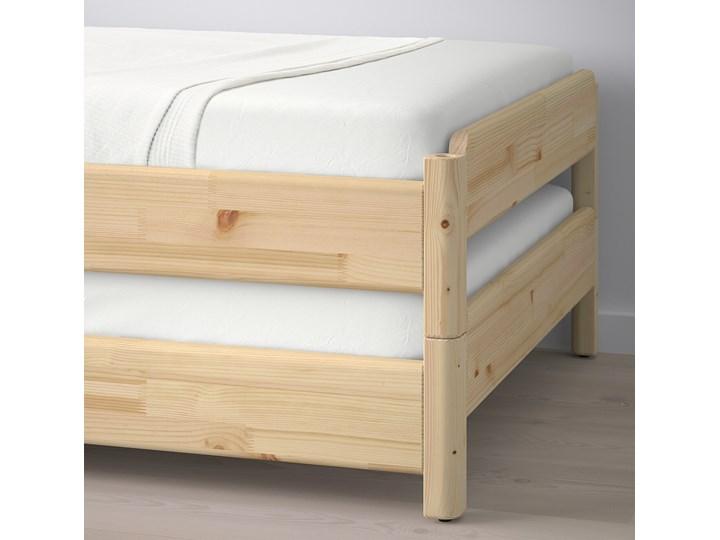 IKEA UTÅKER Łóżko sztaplowane, sosna, 80x200 cm Podwójne Drewno Kategoria Łóżka dla dzieci Kolor Beżowy