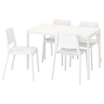 IKEA VANGSTA / TEODORES Stół i 4 krzesła, biały/biały, 120/180 cm