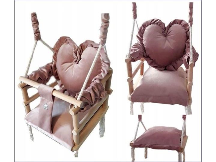 Różowa huśtawka serce dla dziewczynki - Aurelia 3w1 Kubełkowa Kategoria Huśtawki dla dzieci