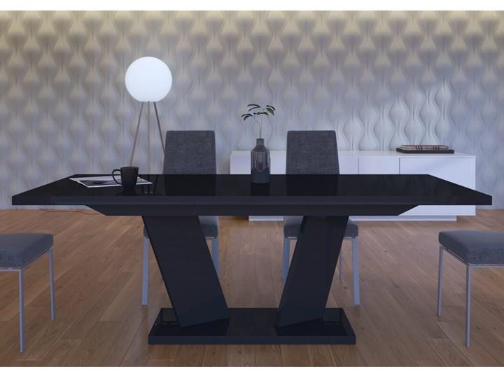 Stół rozkładany 160-240 Sommelier Long czarny wysoki połysk - Meb24.pl