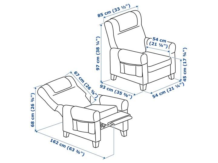 MUREN Fotel rozkładany Szerokość 85 cm Wysokość 45 cm Głębokość 54 cm Wysokość 97 cm Głębokość 94 cm Kategoria Fotele do salonu Kolor Szary