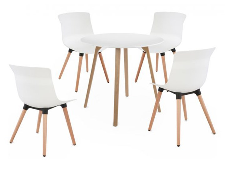 Zestaw: stół Piano + 4 krzesła Fox Pomieszczenie Jadalnia Kategoria Stoły z krzesłami