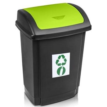 Kosz na śmieci PLAST TEAM 1341 Swing 25L Czarno-zielony