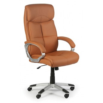 Krzesło biurowe Foster, jasnobrązowe