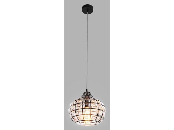 Klasyczna lampka stołowa Stockholm ze szkła Lampa nocna Wysokość 22 cm Wysokość 47 cm Lampa z abażurem Styl Nowoczesny