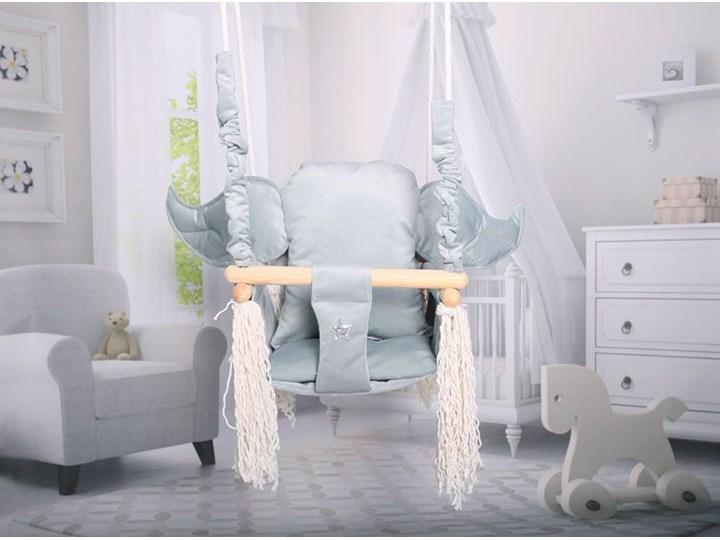 Szara huśtawka dziecięca ze skrzydłami - Tiana Kubełkowa Kategoria Huśtawki dla dzieci