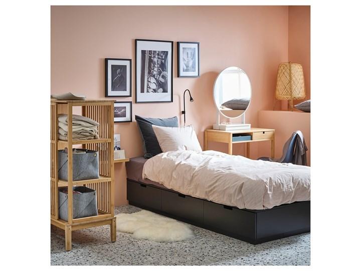 NORDLI Rama łóżka z szufladami Łóżko drewniane Kolor Czarny