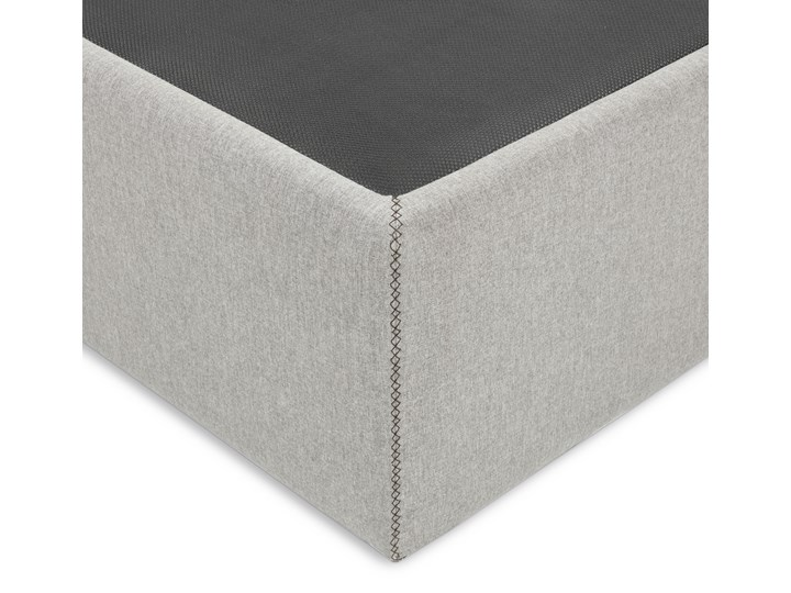 Łóżko Matters 160x200 cm szare Zagłówek Bez zagłówka Łóżko tapicerowane Drewno Tkanina Kategoria Łóżka do sypialni
