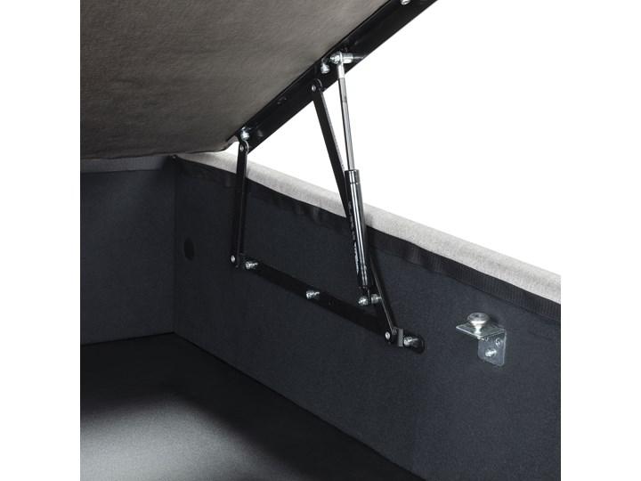 Łóżko Matters 160x200 cm szare Łóżko tapicerowane Drewno Kolor Szary Tkanina Kategoria Łóżka do sypialni