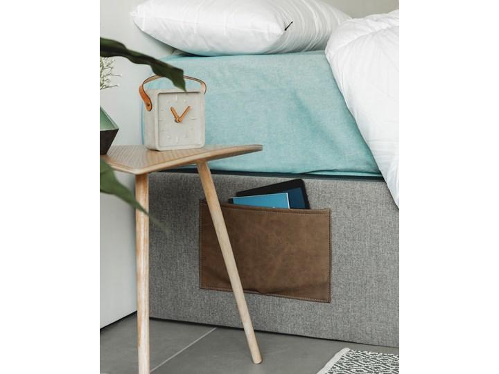 Łóżko Matters 160x200 cm szare Tkanina Drewno Styl Minimalistyczny Łóżko tapicerowane Kolor Szary