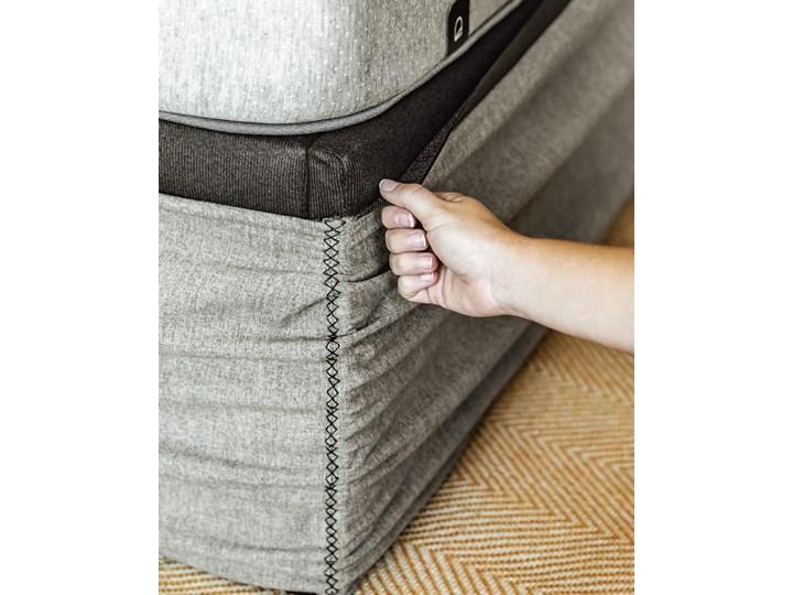 Łóżko Matters 160x200 cm szare Drewno Łóżko tapicerowane Styl Minimalistyczny Tkanina Zagłówek Bez zagłówka