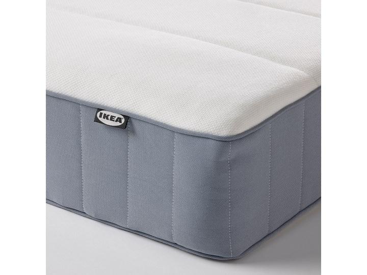 IKEA ESPEVÄR/VESTERÖY Łóżko kontynentalne, biały/twardy jasnoniebieski, 180x200 cm Kategoria Łóżka do sypialni