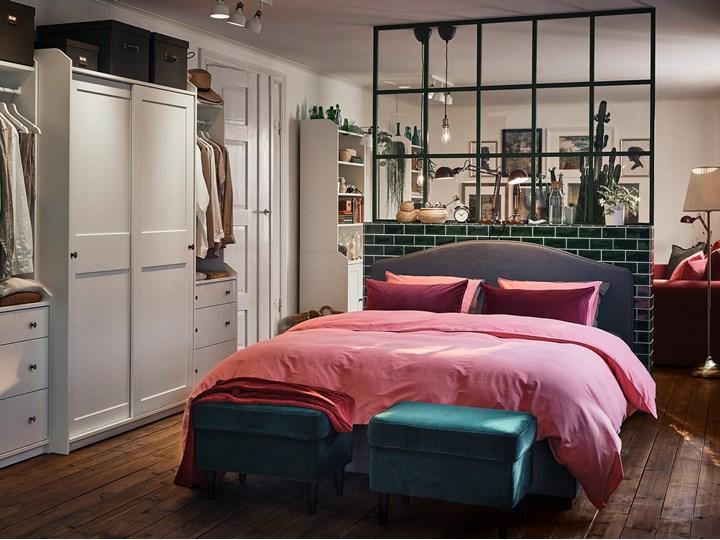 HAUGA Kombinacja szafy Głębokość 55 cm Szerokość 258 cm Wysokość 199 cm Pomieszczenie Garderoba