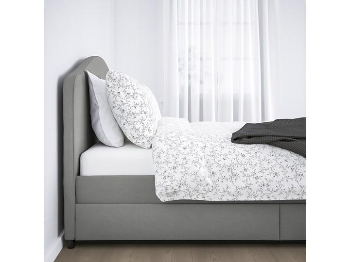 HAUGA Łóżko tapicerowane, 2 poj na pośc Kategoria Łóżka do sypialni Kolor Szary
