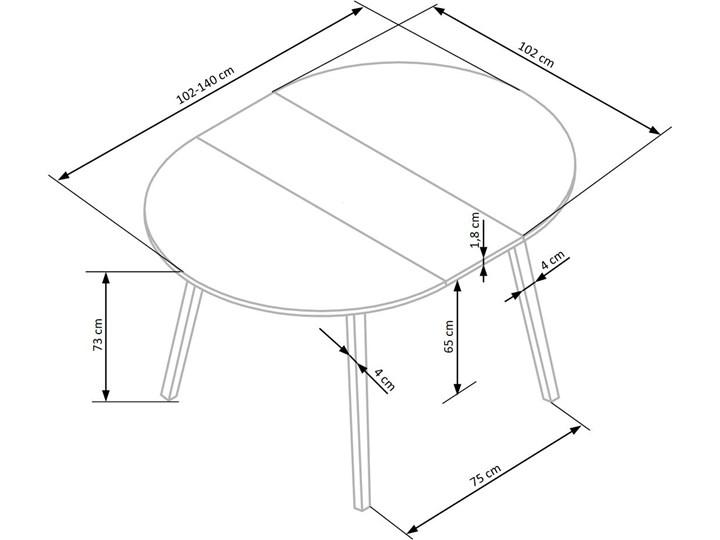 Skandynawski stół z okrągłym blatem Ruben Rozkładanie Rozkładanie Rozkładane