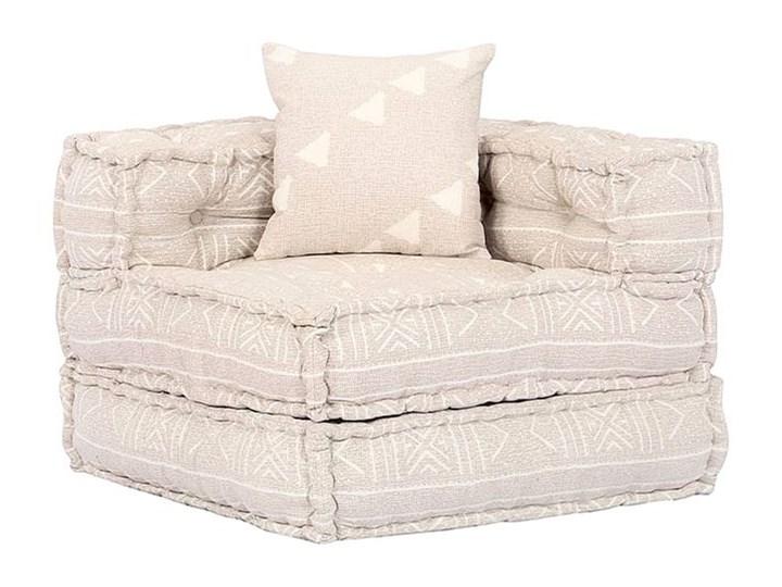 Dwuosobowa beżowa sofa modułowa - Demri 3D Szerokość 70 cm Modułowe Nóżki Bez nóżek