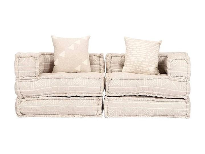 Dwuosobowa beżowa sofa modułowa - Demri 3D Modułowe Szerokość 70 cm Kategoria Sofy i kanapy Pomieszczenie Salon