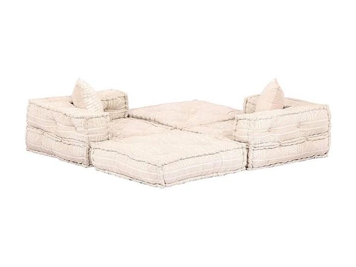 Dwuosobowa beżowa sofa modułowa - Demri 3D Szerokość 70 cm Modułowe Pomieszczenie Salon