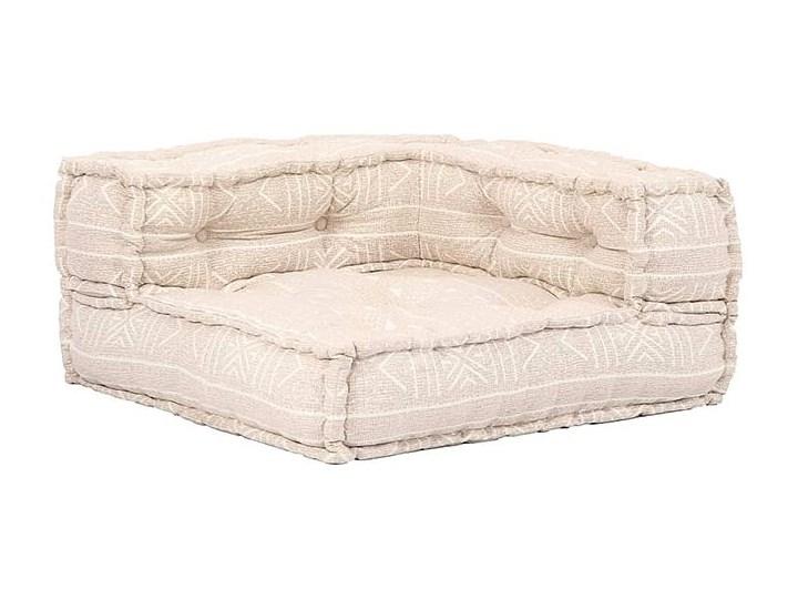 Dwuosobowa beżowa sofa modułowa - Demri 3D Rozkładanie Rozkładana Szerokość 70 cm Modułowe Kolor Beżowy
