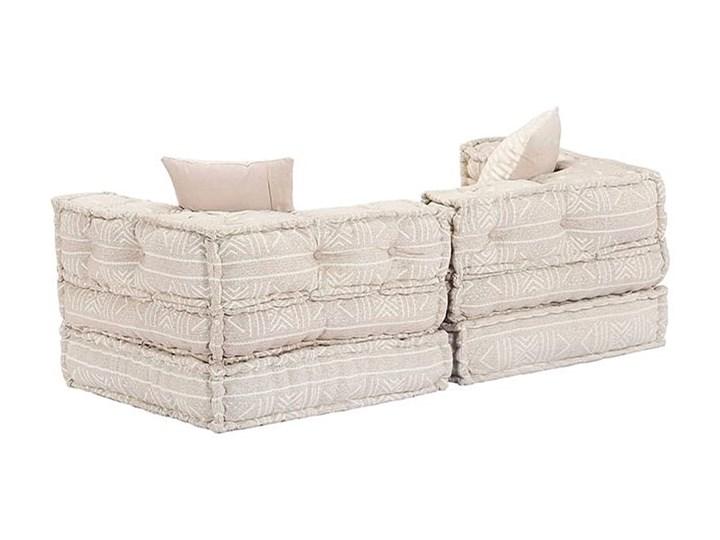 Dwuosobowa beżowa sofa modułowa - Demri 3D Szerokość 70 cm Modułowe Kategoria Sofy i kanapy
